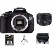 Camera Canon Eos Rebel T3i Lente 50mm +32gb C/10+bolsa+tripe