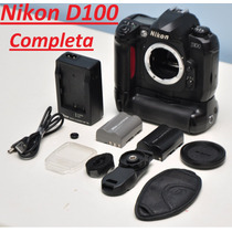 Câmera Nikon D100 + Grip + 2 Baterias + Alça + Tampa + Cabos