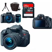 Câmera Canon Eos T5i +18-55 +bolsa+tripé+32gb+garantia Canon