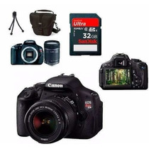 Canon Eos Rebel T3i 600d +18-55+bolsa+tripé+32gb C/10+kit Lp