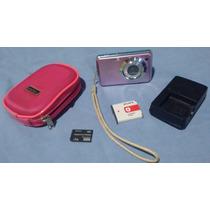 Câmera Digital Sony Cybershot Dsc-w210 Pink 12.1mp + Itens