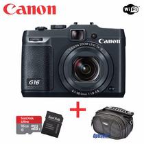 Canon G16, Wifi, 12,1 Mp,lcd 3 Com Sandisk 16gb + Bolsa