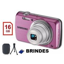 Camera Digital Samsung Hd Zoom + Case + Tripé + Cartão 16gb