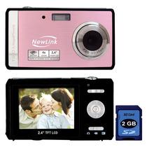 Maquina / Camera Digital 12mp Newlink + Cartão 2gb + Bateria
