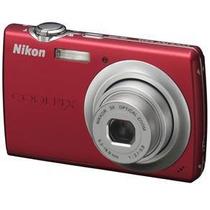 Câmera Digital Nikon Coolpix S203 Vermelha C/ 10 Mp, Zoom Óp