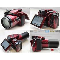 Nikon Coolpix P510 Vermelha 16.1 Mp, Zoom 42x,foto 3d. Etc..