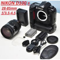 Câmera Nikon D100 + 28 - 85 3.5 + Grip + 2 Baterias + Alça