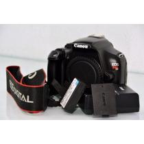 Camera Eos Canon T3 Semi Nova + 2 Baterias Na Caixa [corpo]