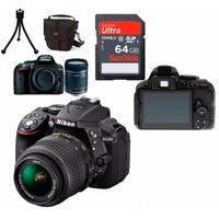 Câmera Nikon D5300+18-55+bolsa+64gb C/10+tripé+kit Limpeza!!