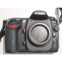 Corpo Maquina Fotográfica Profissional Nikon D200 Semi-nova