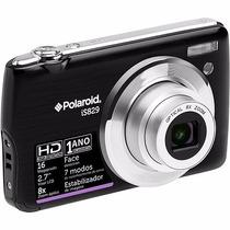 Máquina Digital 16mp Polaroide Is829 + Cartão 4gb Preta Nova