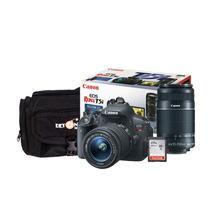 Câmera Canon Eos T5i Kit Ef-s 18-55mm / 55-250mm+cartão16gb