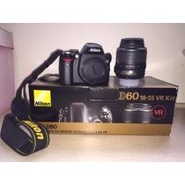 Camera Nikon D60 Lente Af-s 18-55mm