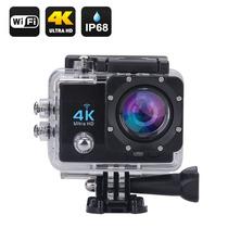 Câmera 4k Ultra Hd Wifi A Prova D´água 16 Mp Lcd Hdmi