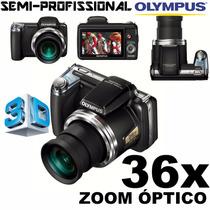 Câmera Semi-profissional Olympus Sp-810uz 14mp 36x Zoom 3d