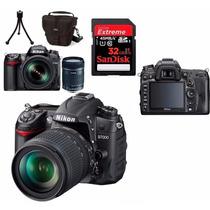 Câmera Nikon D7000 18-140mm +bolsa+tripé +32gb + Kit Limpeza