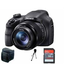 Camera Sony Hx300 Full Hd Zoom 50 X+ 32gb C10+ Bolsa+ Tripé