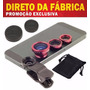 Kit De Lentes Universal P/ Celular Fish Eye Macro E Wide