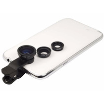 Kit Lentes Celular Fisheye Macro Wide Moto G Neo Z1 Note S5