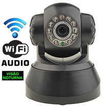 Camera Ip Ir Wireless Vis?o Noturno Infra Controle Iphone