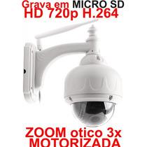 Camera Ip Externa Wireless Wifi Hd 720p Zoom 3x Grava Em Sd
