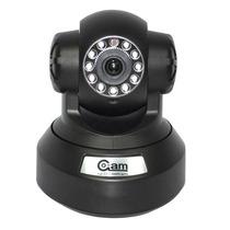 Câmera Ip Hd Wide H.264 Cartão Sd Playback Remoto P2p Qrcode