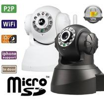 Camera Ip Wireless Visão Noturna Entrada Cartão Memória Sd