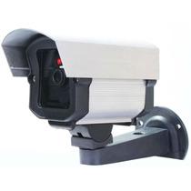 Kit Com 6 Câmeras Falsas Com Led A Pilha 110 220 + 12 Pilhas
