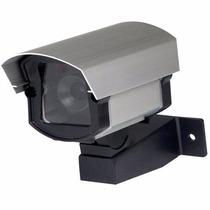 Câmera Falsa Monitoramento Em Alumínio Com Suporte Fixação