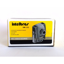 Kit Com 4 Mini Câmera Colorida Intelbras Vm 200 - Novas!