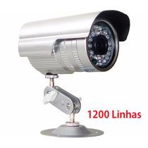 Câmera Segur Infra Ccd Sony 1/3 1200 Linhas Fonte + Conector