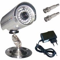 Câmera Vigilância Cftv + Fonte + Conectores + Frete Grátis