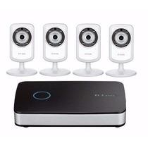 Kit Monitoramento Sem Fio Dlink Nvr 202 E 4 Cameras Dcs-933l
