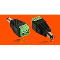 Kit 10 Und. Conector P4 Macho Ou Bnc P/ Câmera Cftv C/ Borne