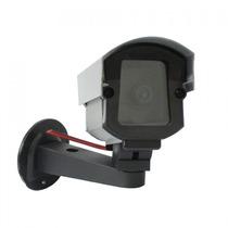 Camera Falsa De Seguranca Anodizada Com Led Vermelho