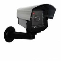 Câmera De Segurança E Monitoramento Falsa Com Led Fake