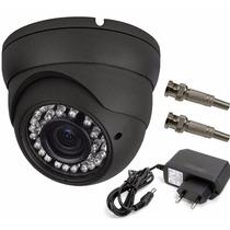Camera Dome Ccd Infra Vermelho 24 Leds 30mts 1000 Linhas 3,6