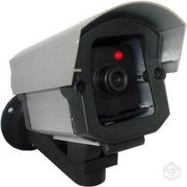 Mini Câmera Falsa Bivolt Para Segurança Residencial Com Led