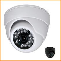 Camera Dome Ccd Infra Vermelho 24 Leds 20mts Linha 3,6mm