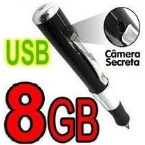 Caneta Espiã - Micro Câmera + Filmadora Espião + 8gb Brinde