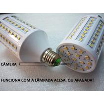 Lâmpada Led Câmera Ip Espiã Wifi Hd Alta C/ Bateria Interna