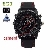 Relógio Espião 007 8gb Micro Câmera Vídeo Foto Frete Grátis