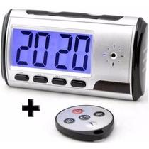 Relógio Despertador Espião Filmadora Sens. Movimento Relogio