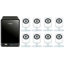 Kit Monitoramento Sem Fio Dlink Nvr 322l+8 Cameras Dcs-933l