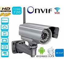 Camera Ip P2p Extena Ip66 Hd Angulo 360º Ircut 20m Wifi