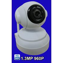 Camera Ip Wifi Onvif Hd 960p 1.3mp 360º Pantilt 4mm C/ Audio