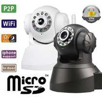 Camera Ip Wireless Noturna Android Iphone Entrada Micro Sd