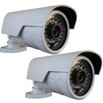 Kit 2 Câmera Externa Ip 1.3mp Hd 720p Onvif 2.4 Pega Placa