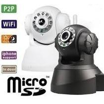Câmera Ip Dvr Sem Fio Wireless Alarme Gravador Rj45 Micro Sd