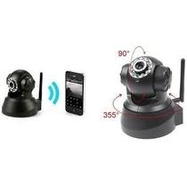 Camera Ip Visão Noturna Ir Wireless Controle Via Internet Sd